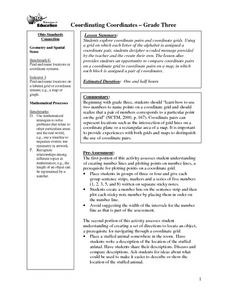 Coordinating Coordinates Lesson Plan