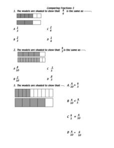 Fraction Models Lesson Plan