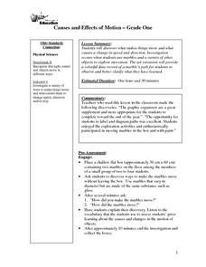 Causes and Effects of Motion Lesson Plan