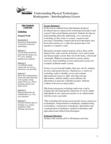 Understanding Physical Technologies Lesson Plan