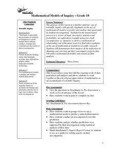 Mathematical Models of Inquiry Lesson Plan