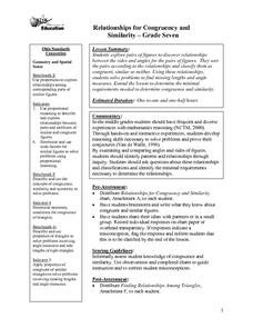 Relationships for Congruency and Similarity Lesson Plan