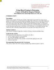 Using Blood-Typing to Determine Causes of Death in Surgery Patients Lesson Plan