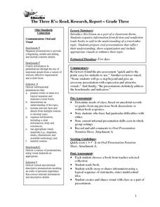 Read Research and Report Lesson Plan