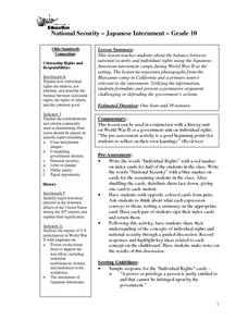 National Security - Japanese Internment Lesson Plan