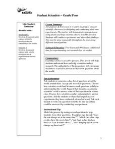 Student Scientists Lesson Plan