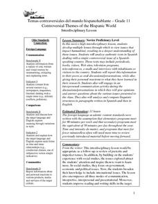 Temas contraversiales del mundo hispanohablante:Controversial Themes of the Hispanic World Lesson Plan