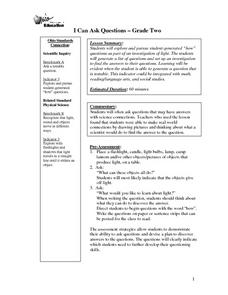 I Can Ask Questions Lesson Plan
