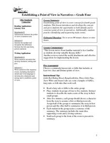 Establishing a Point of View in Narratives Lesson Plan