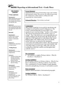 Reporting On An Informational Text Lesson Plan