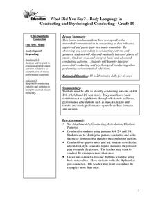 What Did You Say? Body Language in conducting and Psychological Conducting Lesson Plan