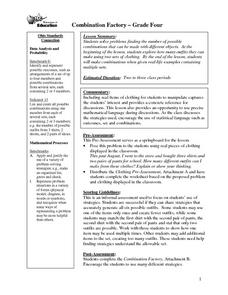 Combination Factory Lesson Plan