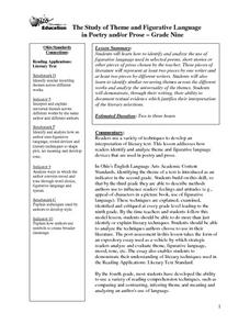 The Study of Theme and Figurative Language in Poetry and/or Prose Lesson Plan