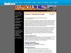 Cold War I: Setting the Stage (Lesson 1) Lesson Plan