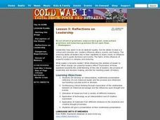 Cold War I: Reflections on Leadership (Lesson 3) Lesson Plan