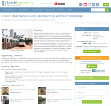 Mass Transit Living Lab: Improving West Corridor Design Lesson Plan