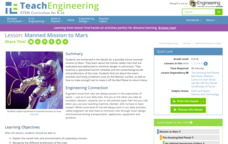 Manned Mission to Mars Lesson Plan