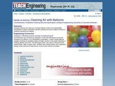 Cleaning Air with Balloons Lesson Plan
