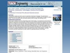 Construction Technologies: Construct the Strongest Bridge Lesson Plan