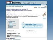 Disassemble a Click Pen Lesson Plan