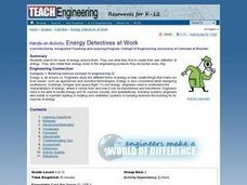 Energy Detectives at Work Lesson Plan