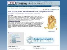 Invent a Backscratcher from Everyday Materials Lesson Plan