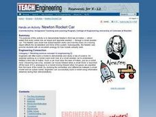 Newton Rocket Car Lesson Plan