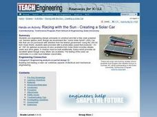 TE Activity: Racing with the Sun - Creating a Solar Car Lesson Plan