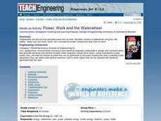 Power, Work and the Waterwheel Lesson Plan