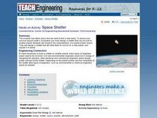 TE Activity: Space Shelter Lesson Plan