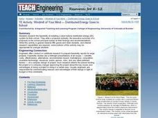 Windmill of Your Mind - Distributed Energy Goes to School Lesson Plan