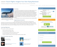 Future Flights: Imagine Your Own Flying Machines! Lesson Plan