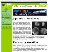 Jupiter's Moons Lesson Plan
