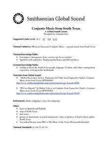 Conjunto Music from South Texas Lesson Plan