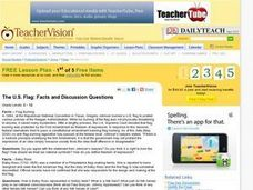 The U.S. Flag: Facts and Discussion Questions Lesson Plan