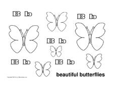 Beautiful Butterflies Worksheet