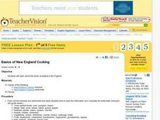 Basics of New England Cooking Lesson Plan