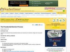 The Presidential Election Process Lesson Plan