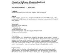 Chemical Volcano Lesson Plan
