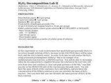 H2O2 Decomposition Lab II Lesson Plan
