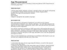 Egg Measurement Lesson Plan