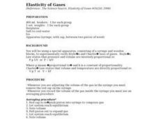 Elasticity of Gases Lesson Plan