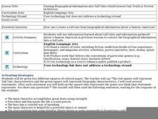 Turning Biographical Information into Tall Tales Lesson Plan