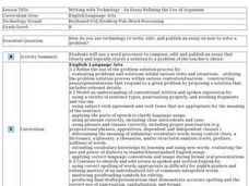 Writing with Technology--An Essay Refining the Use of Argument Lesson Plan