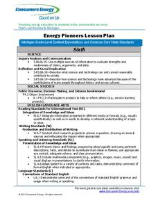 Energy Pioneers Lesson Plan