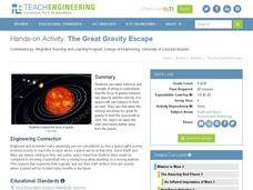 The Great Gravity Escape Worksheet