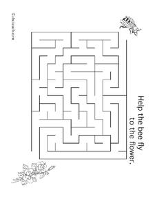 Bee Maze Worksheet