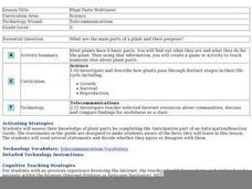 Plant Parts WebQuest Lesson Plan