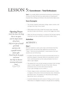 Committment - Total Enthusiasm Lesson Plan