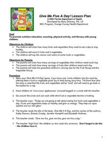 Give Me Five A Day! Lesson Plan